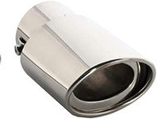 LUOERPI Punta de Escape Universal para autom/óvil Entrada de 60 mm Salida de 100 mm Silenciador de Tubo de Cola autom/ático Boquilla de Salida de Corte de /ángulo de Pared Doble