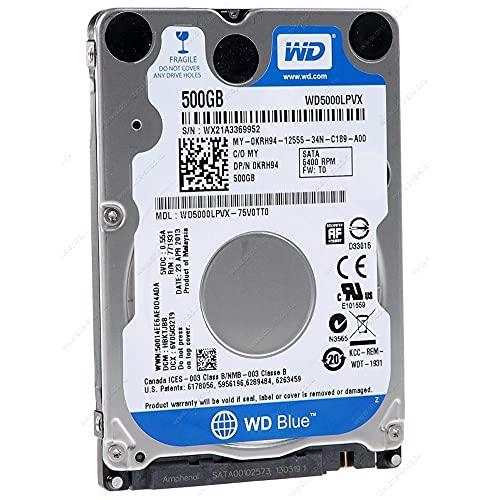 """Western Digital Dell WD5000LPVX Blue 7mm 500GB SATA 6Gbp/s 2.5"""" Laptop Hard Drive"""
