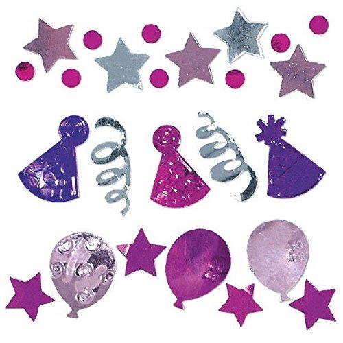 amscan International Confettis fêtes d'anniversaire, Lot de 3, Rose