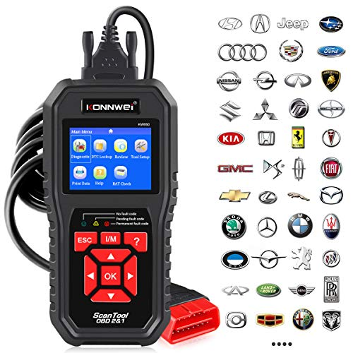 KONNWEI OBD2 Scanner Professional Car OBD II Scanner Auto Diagnostic Fault Code Reader Automotive Check Engine Light Diagnostic EOBD Scan Tool for All OBDII Protocol Cars Since 1996 (Enhanced KW850)