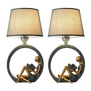DGHJK Lampe de Bureau/Lampes de Bureau Lampe de Table en résine Chambre Lampe de Table de Chevet Moderne Lampe de Table de Style Nordique veilleuse