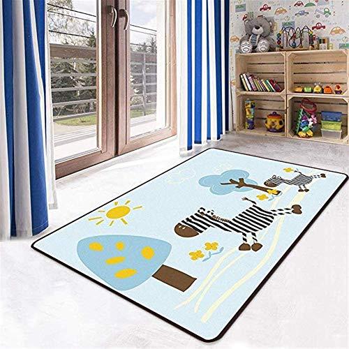 Alfombra de la sala de estar de la alfombra de la alfombra de la alfombra antideslizante Animal Modelo grande Cómodo suave suave del dormitorio del dormitorio de los niños Decoración del hogar Silla d