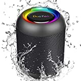 DuoTen Altavoz Bluetooth, Altavoz Portatil Bluetooth Con Luces, IPX7, 24 Hora, 20W, Sonido...