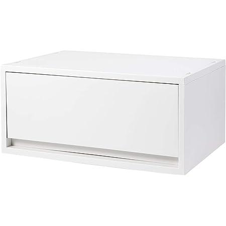 無印良品 ポリプロピレンケース・引出式・横ワイド・深型・ホワイトグレー 約幅37×奥行26×高さ17.5cm 02108311