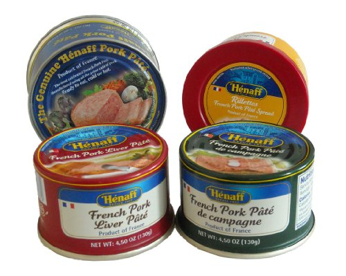 Henaff French Pate Assortment: 4 Different Pates