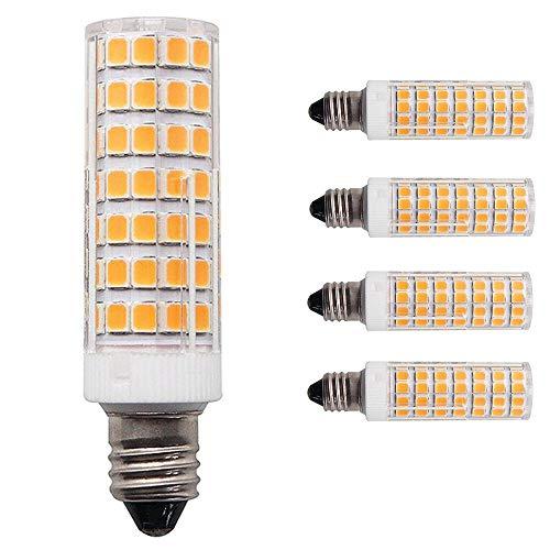 [4-Pack] 8W e11 led Bulb 100w Equivalent dimmable, 1000lm Warm White 2700K JD T4 E11 Mini Candelabra Bulb for Chandelier Ceiling Fan Light Bulb