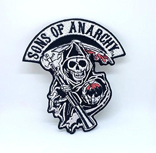 Sons of Anarchy Skull Biker Jacke Eisen auf Sew auf gesticktes Patch