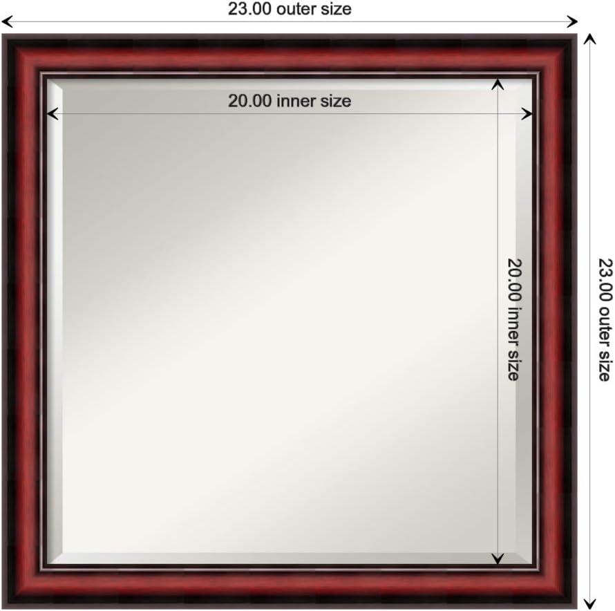 Buy Amanti Art Framed Vanity Mirror Bathroom Mirrors For Wall Rubino Cherry Scoop Mirror Frame Solid Wood Mirror Medium Mirror 23 0 X 23 0 In Online In Indonesia B07mmp6tnc