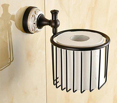 FAFZ Porte-serviette de style européen, accessoires de salle de bains en bronze, serviette antique (couleur : # 8)