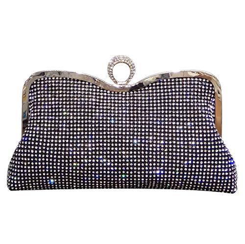 pequeño y compacto Shiraz Gold Wedding Bag Clutch Mujer Fiesta Clutch Bolso de noche Bolso de hombro…