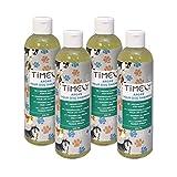 Timely - Shampooing pour chien à l'huile d'argan, doux mais efficace pour les pelages durs et secs, (Lot de 4x 250ml)