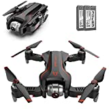Pliers GPS Drone con cámara 4K, WiFi. FPV Quadcopter Drone Plegable 18 Minutos Tiempo de Vuelo, altitud Hold, One Key Despegue/Aterrizaje, (baterías de 2 Piezas) (Color : Black and Red)