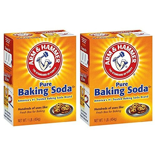 Arm & Hammer Pure Baking Soda 1 lb. Box (Pack of 2)