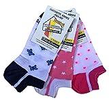 Lucchetti Socks Milano 6 paia fantasmini bambino/a 92% cotone leggeri fantasia filo di scozia Made in Italy dal 27 al 38 invisibili calzini bassi sotto la caviglia (31-34, Set Lisa)