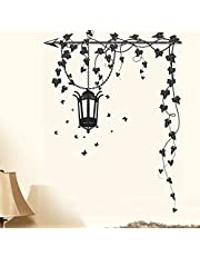 Decals Design 5785 StickersKart Wall Stickers Hanging Lamp and Vines Black, 70cm x 50cm (Multicolor)