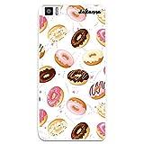 dakanna Funda Compatible con [ Bq Aquaris M5.5 - M 2017 ] de Silicona Flexible, Dibujo Diseño [ Donuts de Crema y Chocolate ], Color [Borde Transparente] Carcasa Case Cover de Gel TPU para Smartphone