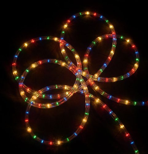 LB International 18' Multi-Color Indoor/Outdoor Christmas Rope Lights