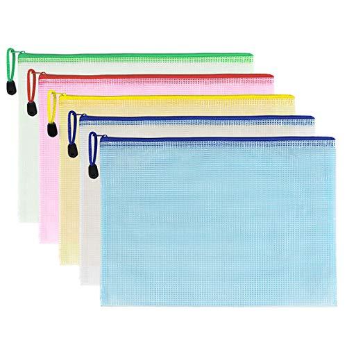 A4 Kunststoff-Dokumentenmappe, Dokumentenmappen, Umschläge, Taschen mit Reißverschluss, 5 Stück
