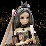UCanaan BJD Dolls 1/3 SD Doll 24 Inch 18 Ball Jointed Doll DIY Toys with Full Set Clothes Shoes Wig Makeup, Best Gift for Christmas-Jila