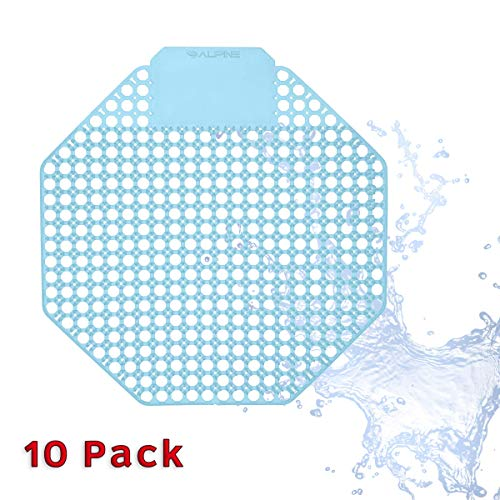 Alpine Industries Urinal Screen Deodorizer Lasts for Up to 5000 Flushes – Anti-Splash & Odor Neutralizer – Ideal for Bathrooms, Restrooms, Office, Restaurants, Schools (Ocean)