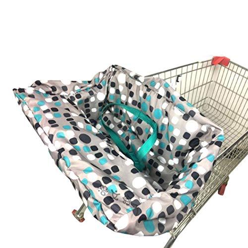 Best Bargain TEXXIS Portable Print with Seat Belt Shopping Cart Cushion Chair Cushion Shopping Cart ...