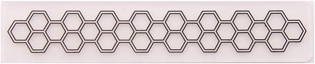 Horoshop Molde de estêncil, pasta em relevo, estampa hexagonal, álbum de fotos, suprimentos para fazer cartões