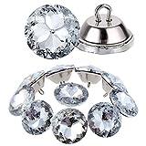 Kyrio, 60 bottoni da tappezzeria in cristallo, per tappezzeria, con testa trasparente, per imitare i bottoni a diamante, per cucire fai da te e decorare la parete del divano (30 mm)
