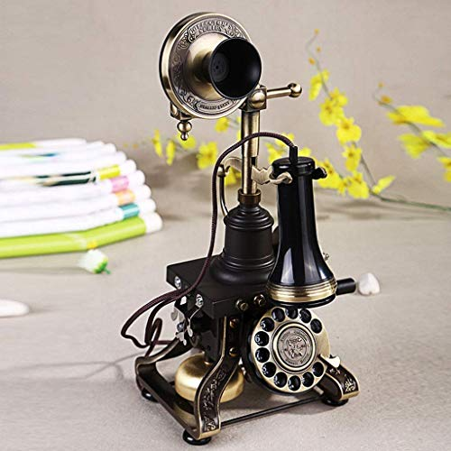 YUBIN Teléfono Teléfono Home Retro teléfono Fijo Teléfono Rotary Botón Fijo Línea Fija Negro (Color: A) (Color : B)