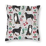 surce Fundas de Almohada Bernese Mountain Dogs Christmas Cute Dogs Navidad diseño del Perro 18x18 Inch