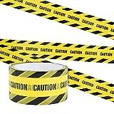 Irich Cinta de Seguridad Amarilla, 25M x 4,8CM Caution Cinta Advertencia Adhesiva de Peligro para Escaleras al Aire Libre Paredes Trabajo o Áreas de Peligro