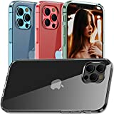 Clear iPhone 12 Pro Case,iPhone 12 Silicone Case Ultra Slim Soft Skin Flexible TPU Scratch Resistant Shockproof Protective Cases Cover for iPhone 12/12 Pro 6.1'', Clear