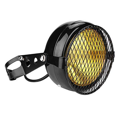 Suuonee koplamp voor motorfiets, 12 V, koplamp en lampenkap en houder