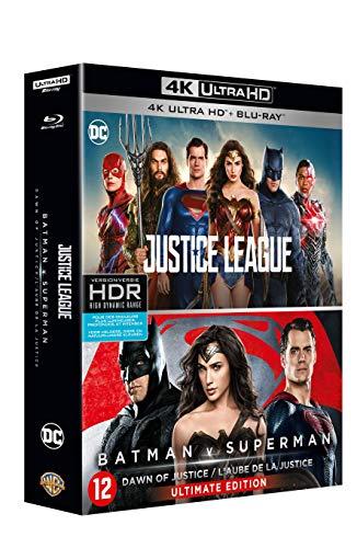 Coffret 4k 2 films : justice league : batman V superman, l'aube de la justice 4k ultra hd