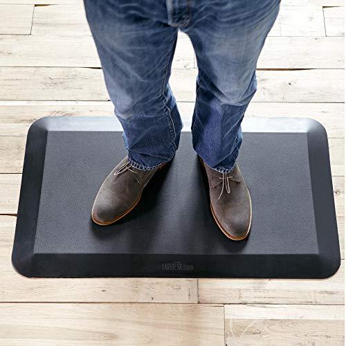VARIDESK- 5/8' Non-Slip Anti-Fatigue Comfort Mat 20'x34', for Kitchens or Standing Desk