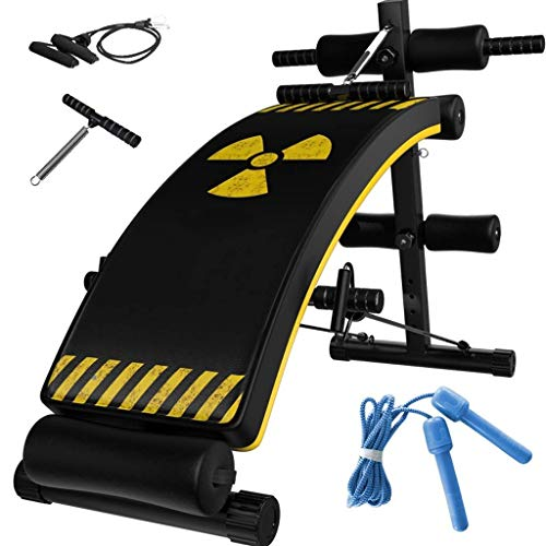 Best Review Of Home Fitness Equipment Supine Board Sit-Ups Abdomen Abdominal Board Folding Sit-Up Bo...