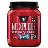 BSN Nutrition N.O.-Xplode, Suplementos Deportivos Pre Workout en Polvo con Creatina Monohidrato, Cafeina, Beta Alanina, Vitamina D y Vitamina B Complex, Frambuesa Azul, 50 Porciones, 1 kg