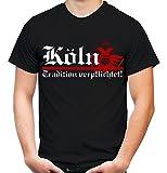 Köln Tradition Männer und Herren T-Shirt | Fussball Ultras Cologne Geschenk | FB (XXL, Schwarz)