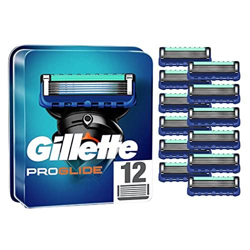 Gillette ProGlide Rasierklingen für Männer, 12 Stück, mit 5 Anti-Irritations-Klingen, für eine gründliche und lang anhaltende Rasur