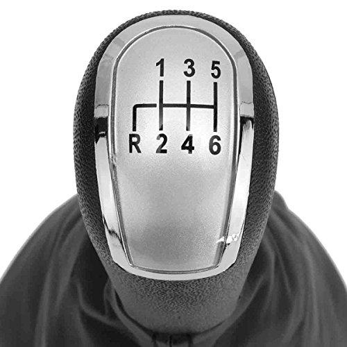HDCF Couvercle de Gaiter de bouton de décalage de vitesse de vitesse d'engrenage d'argent 6 pour Classe C W203 S203