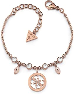 Guess Womens Stainless Steel Fashion Bracelet - UBB78021-L, Color Rose Gold, Size L