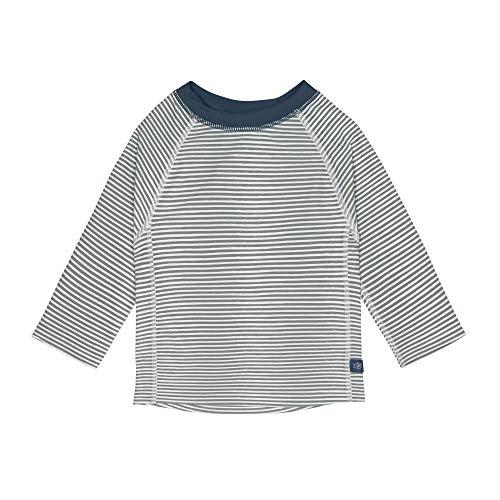 LÄSSIG Rashguard Camisa de protección de Sarpullido, Azul a Rayas, 18 Meses Unisex bebé