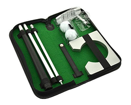 Neon Executive Gift Portable Golf Putter Set Kit with Ball Hole-Cup for Travel Indoor Golf Putting Practice
