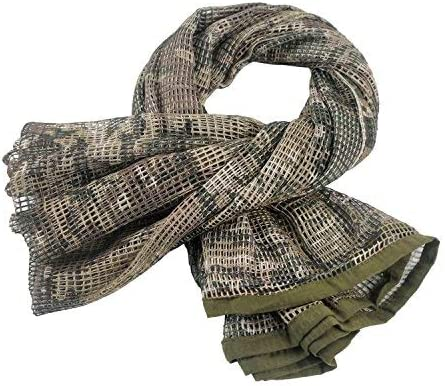 HYOUT Tactical Military Neck Scarves Woodland Camo Scarf Sniper Veil Desert Shemagh for Wargame Outdoor Sports
