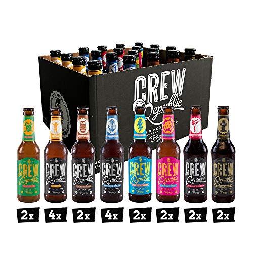 CREW REPUBLIC® Craft Bier Mix Probierset   World Beer Awards Gewinner 2020   Ideales Geschenk für Männer und Bierliebhaber   Bierspezialitäten aus Bayern nach deutschem Reinheitsgebot (20 x 0,33l)