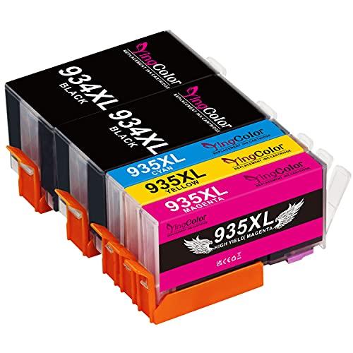 YingColor 934XL 935XL Nero Ciano Magenta Giallo Cartucce Sostituzione per HP 934 XL 935 XL inchiostro per HP Officejet Pro 6230 6830 6835, HP Officejet 6220 6812 6815 6820 (Multipack da 5)