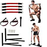 Clothink Pilates Bar with 4 Resistance Bands Kit, Squat Pilates Stick Bar Exercise Equipment for Home Workouts
