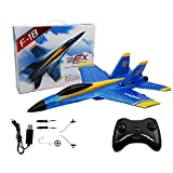 Remote Control Airplane, 2.4Ghz 2 Channel RC Plane Ready to Fly, Durable EPP Foam Built-in 3-Axis Gyro, Easy to Fly RC Aircraft and Great Gift Toy for Beginners and Kids, Upgraded with Propeller Saver