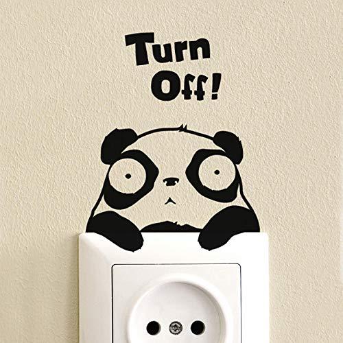 Super süße Energiespar-Tipps Schalter Aufkleber bleiben süße Pandas ohne weiße Ränder Home Decoration Wandaufkleber-Bitte beachten Sie für andere Farben