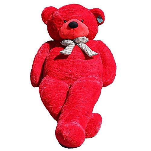 JOYFAY Marca Grande Orsacchiotto 230cm 91' Orso di Peluche Gigante Rosso Giocattoli di pezza Morbido E tenero per Adulto Bambina Peluche giganti Orso Peluche Gigante Orso Gigante Pupazzo