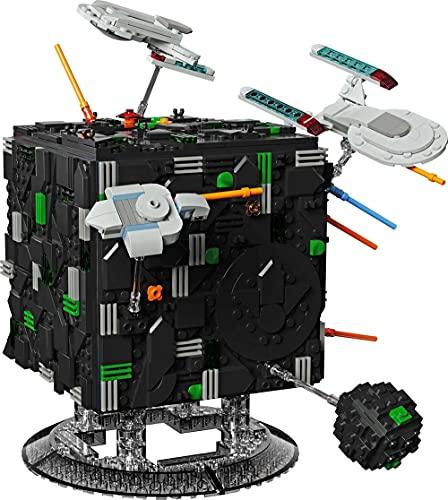 Bausteine Raumschiff, Borg Cube Diorama Klemmbausteine Bauset
